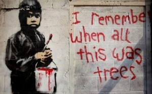 Banksy Mural, Detroit, MI