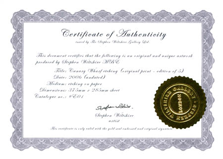 Clancco art law when art becomes a souvenir for Certificates of authenticity templates