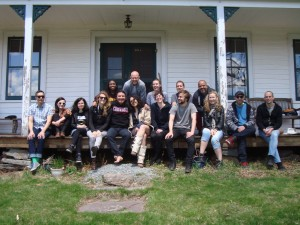 The 2014 Art & Law Program crew at Denniston Hill artist residency.