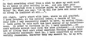 Hollis Frampton Letter to MoMA, 1973.