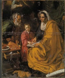 The Education of the Virgin, 1617-18. Photo: Yale University Art Gallery