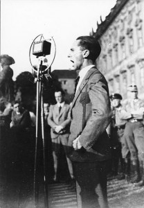 Joseph Goebbels in 1932. Joseph Goebbels in 1932. German Federal Archives via Wikimedia.