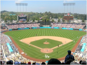 Image: Frederick Dennstedt, L.A. Dodgers Stadium, Chavez Ravine (2006). Image is used via Creative Commons License, BY-SA 2.0.
