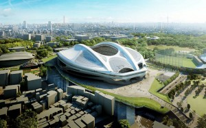 Proposed Japan National Stadium, designed by Zaha Hadid.
