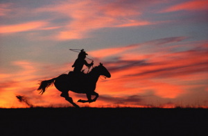 "Norm Clasen, ""Sunset Chase, Riverton, WY,"" 1985"